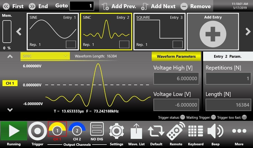 Генератор сигналов произвольной формы AWG-2000