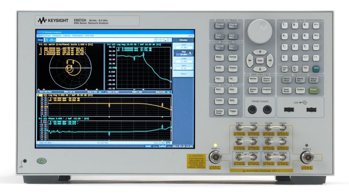 Keysight Technologies E5072A Векторный анализатор цепей серии ENA