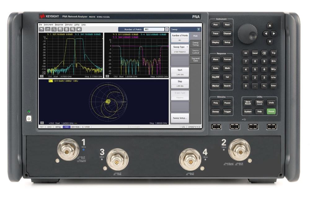 Keysight Technologies Векторные ВЧ- и СВЧ-анализаторы цепей серии PNA N522xB (N5221B, N5222B, N5224B, N5225B и N5227B)